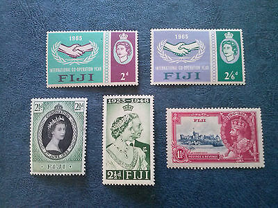 Fiji   5  Mh  Stamps