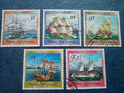 PAPUA NEW GUINEA SC#664,665,670,674,676 Historical Ships