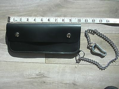 "Langlitz Leathers Trucker Wallet w/ Chain USA made Cowhide 10"" USA Motorcycle"