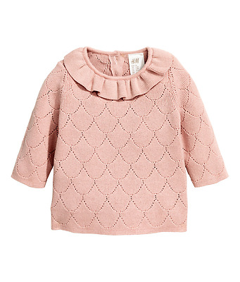 H&M Baby Exclusive Girl Sweater Pink NWT 9-12 months Knit