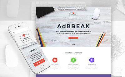 Advertising Company Responsive Business Website Template - Free Installation