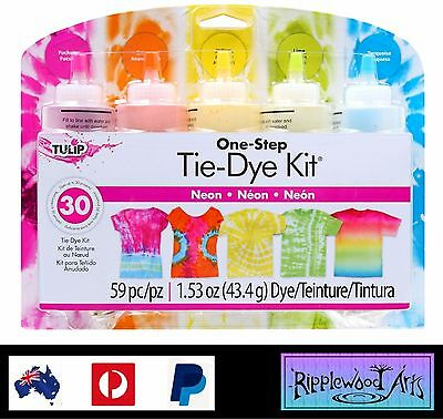 Tulip One Step - 5 Color Tie Dye Kit - NEON - Dyes up to 30 items