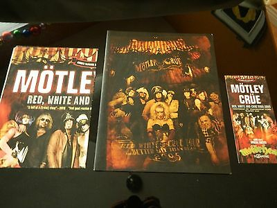 Motley Crue Better Live Than Dead Tour Book Program Red White Crue 2005 + More !