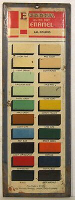 Vintage tin Eureka Enamel display sign with paint chips