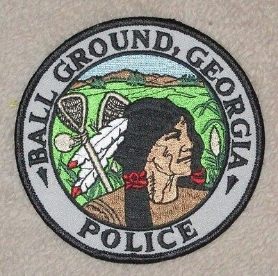 """Ball Ground Police Dept Shoulder Patch - Georgia - 4"""" x 4"""" - Indian"""