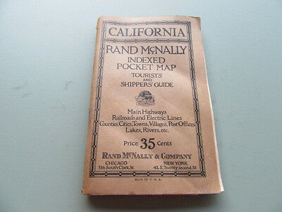 Rare Early Rand McNally Tourist & Shippers Guidfe Map Book of California