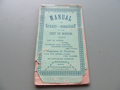 1891 Manual & Street Directory of The City of Boston