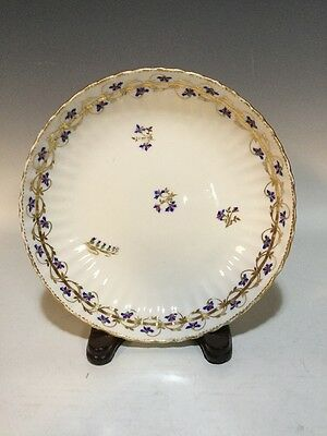 Late 18th Century Derby English Porcelain HP Cornflower Sprig Scalloped Bowl