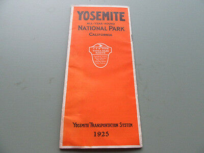 1925 Yosemite National Park Transportation System Brochure