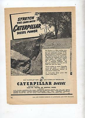 Caterpillar D7 Tractor Advertisement removed from 1953 Farming Magazine
