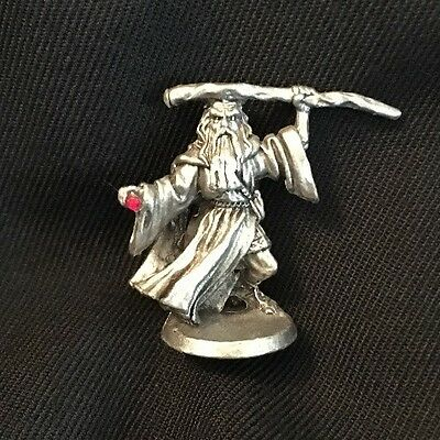 Ral Partha Pewter Classic Miniature Wizard Figure Fantasy Dungeons & Dragons ?