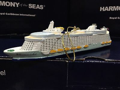 Official Royal Caribbean Harmony of the Seas Ceramic Ornament WORLD LARGEST SHIP