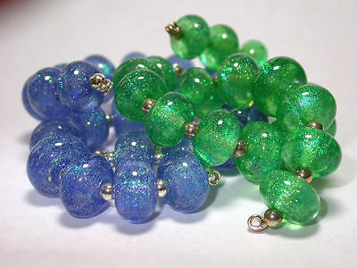 VGB Lampwork Beads -  Sale !!! Teals and Blues