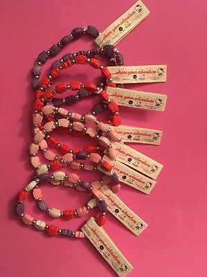Hello Kitty Elastic Beaded Bracelets; Set Of 8; NWT!!