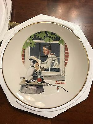 The Danbury  Norman Rockwell Daydreaming  Plate 1981