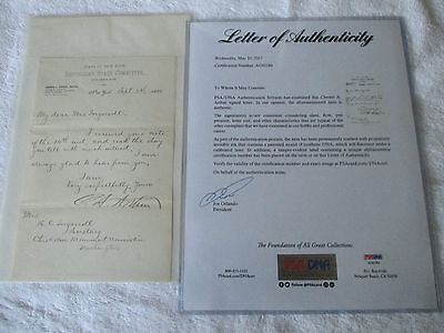 CHESTER A. ARTHUR {Republican State Committee Letterhead} SIGNED 1880 PSA/DNA