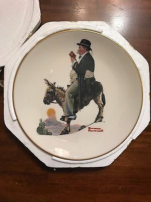 The Danbury Norman Rockwell The Tourist Plate  1981