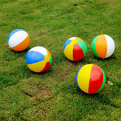 5pcs Inflatable Blow up Jumbo Swimming Pool Garden Ball Beach Ball Holiday Party