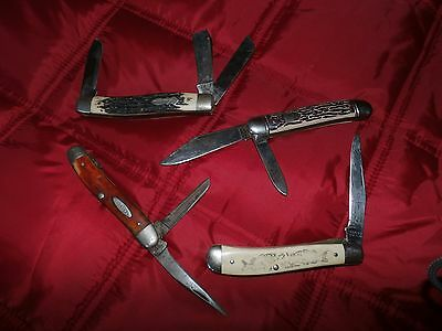 Vintage Pocket Knife Lot / Collection-4 Total- Case X, Colonial, Schrade!!!