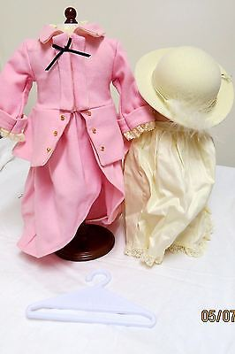 AMERICAN GIRL Elizabeth HTF Retired Pink Riding Outfit Complete  In  Box