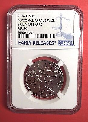 2016-D National Park Service Half Dollar NGC MS69 Early Releases