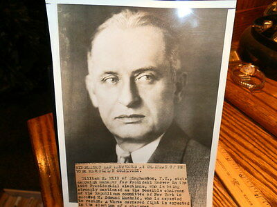 #8574,Orig.Henry Miller Photo,1928,Wm H.Hill NY Campaign Mgr Pres.Hoover