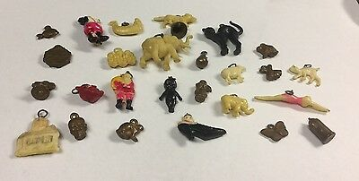 Vintage Lot Of Celluloid And War Charms  All Kinds.  26 In Lot