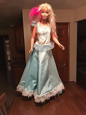 Rare  Vintage 1992 Mattel 3Ft My Size Dancing Barbie Doll W/ Turn Table Stand