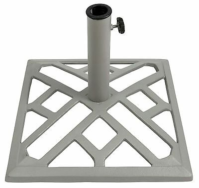 Collection Cast Iron 45cm Square Parasol Base - White. From Argos on ebay