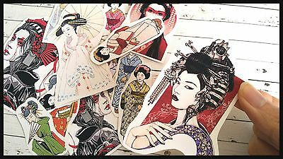 Japanese geisha Stickers,Tumblr stickers,Japanese kawaii Planner Sticker