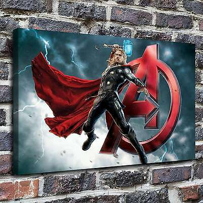 """12""""x20""""Thor avengers wide Paintings Print on Canvas Home Decor Wall Art Picture"""