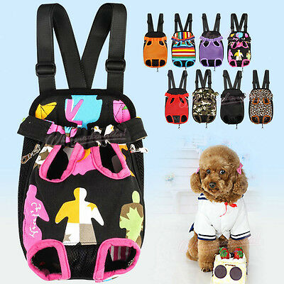 New Pet Dogs Backpack Carrier Puppy Pouch Cat Front Bag Back Pack With Legs Out