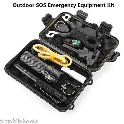 Outdoor Self-help Box SOS Emergency Survival Equipment Kit for Camping Hiking