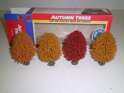 Train set layout SMALL AUTUMN TREES ,LIFE LIKE TRAINS HO/ N /O S SCALES New