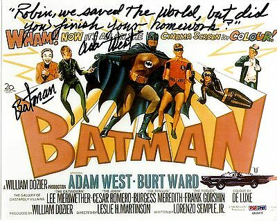 "Adam West Auto Signed 8X10 Batman ""robin We Saved The World, But Did You..."" Psa"