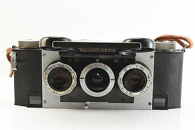 David White Stereo Realist Rangefinder 35mm Camera with How to Book Case Strap