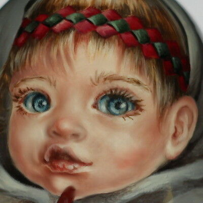 1 kind art paint roly poly nesting matryoshka Russian author doll girl beauty