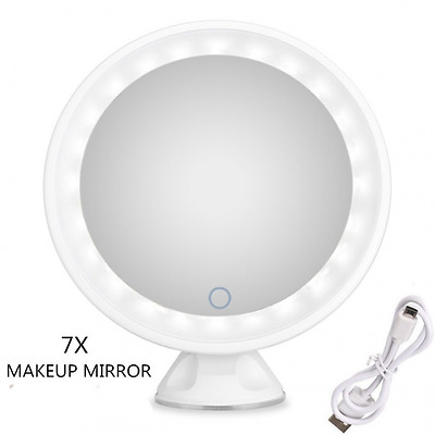 Makeup Mirror Led Lighted, Led Mirror Touch Screen with Suction Cup Base Bathroo
