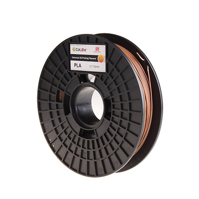 Colido Imprimante 3D PLA Filament 1,75 mm bobine 500 g, marron, 1
