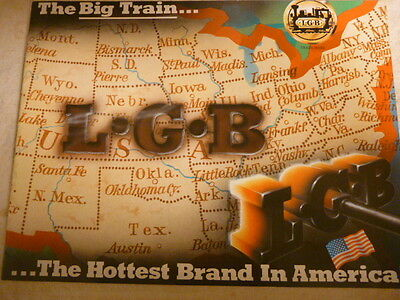 Vintage LGB Catalog The Big Train circa 1988 22 pages, Glossy, Full Color