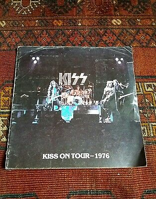 Kiss On Tour 1976 - Rare Tour Programme Kiss Army Inserts and 2 Concert Tickets
