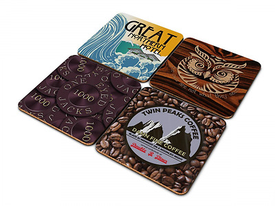 Twin Peaks Coasters In Gift Box, inspired by David Lynch's classic TV Series. by
