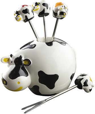 Boska 853704 Dutch Vache Set de Piques Blanc