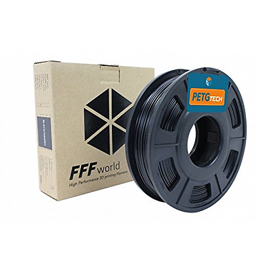PETG Tech 250 g. Black 2.85 mm High performance P.E.T.G. Filament for 3D Printer