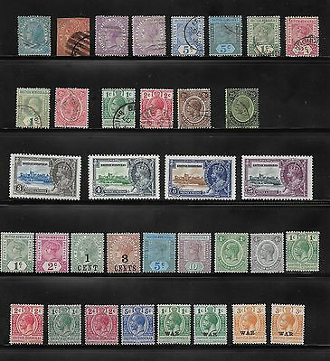 1865 Onwards Collection Of British Honduras Stamps Used And Unused