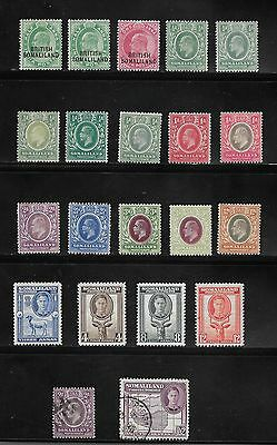 Somaliland Protectorate Stamps Unused And Used Collection