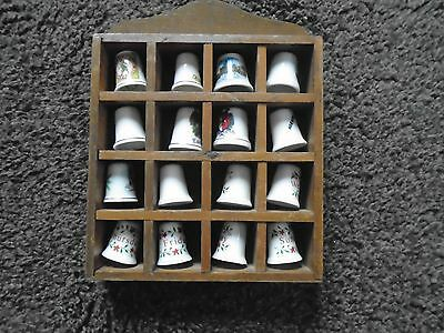 Thimble Collection 16 In Total Plus Display Case