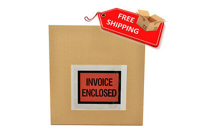 4.5x5.5 Full Face Packing List Invoice Envelopes 10000 QTY ( 2.5 mil )