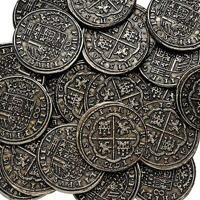 Silver Pieces of Eight, Spanish Armada, Pirates Treasure Coin. BUY 4 GET 1 FREE