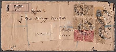 Rhodesia Rare Registered Cover From Shagori With South Africa 9 Values To India